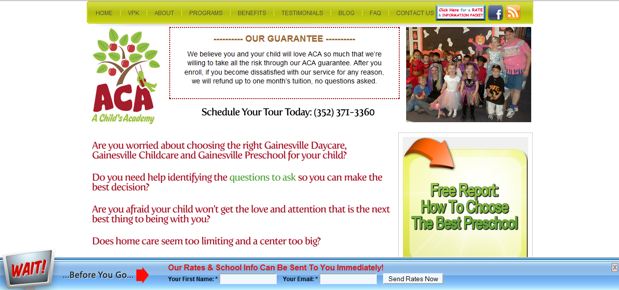 A Child's Academy Home Page